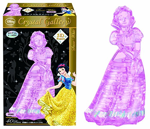 Hanayama Disney Crystal Gallery Pink Snow White 3D Puzzle (40 Piece)