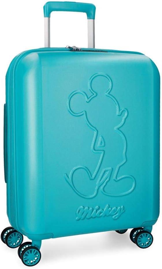 Maleta de cabina Mickey Premium rígida 55cm turquesa