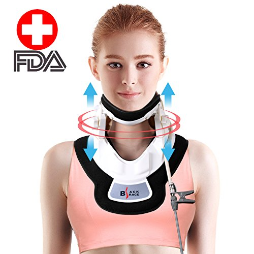 Inflatable Medical Neck Cervical Traction Device - Home Use Neck Massager & Collar- Neck & Shoulder Pain Relief - Stretcher Collar for Travel/Home Improved Spine Alignment By Befiling.