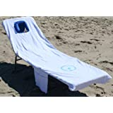 Ostrich Chaise - Custom Fitted Towel, White