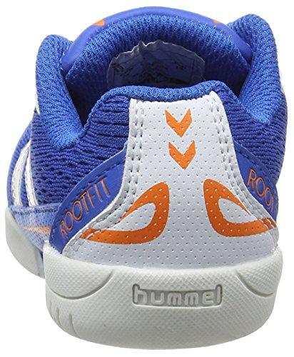 Hummel Root Jr Lace, Zapatillas Deportivas Para Interior Unisex Niños Azul (Skydiver)