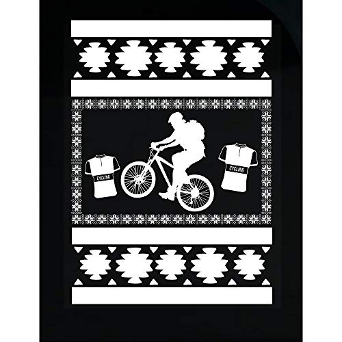 BADASS REPUBLIC Mountain Bike Ugly Christmas Sweater Look Gi