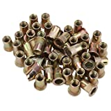 BQLZR Flat Head Rivet Nut M8 for Instruments Furniture Decoration Pack of 50