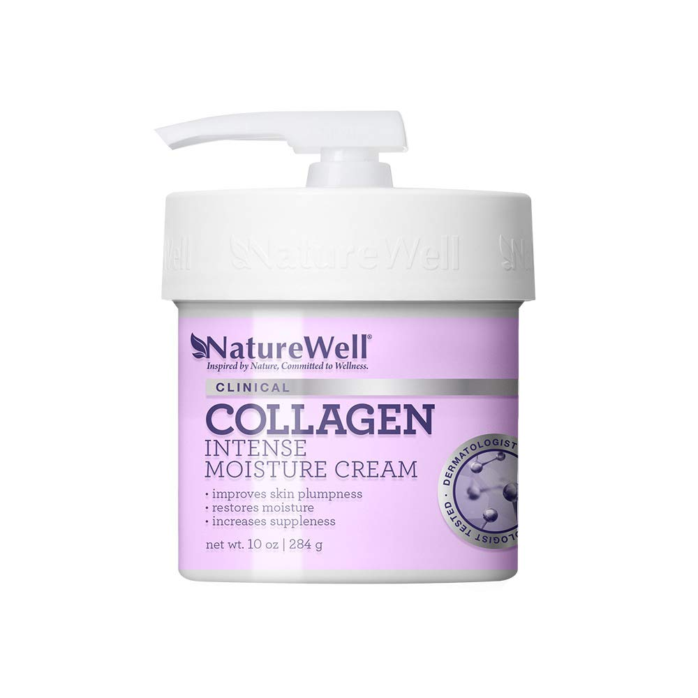 NatureWell Collagen Intense Moisturizing Cream for Face & Body, 10 oz. | Clinical | Increases Suppleness & Improves Skin Plumpness