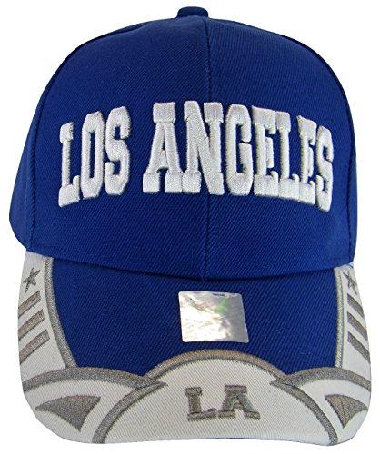 Los Angeles Men's Stars & Stripes Adjustable Baseball Cap (Royal/White) ()