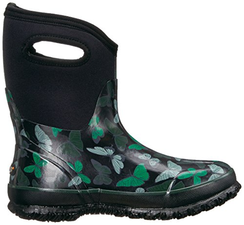 Black Mid Multi Classic Snow Butterflies Boot Bogs Women's YxqORwR6