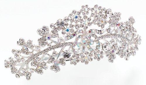Lillian Rose Bride Wedding Silver Rhinestone Comb Tiara
