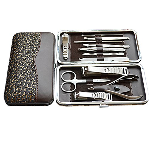 Skuleer(TM) 12 Pcs Nail Care Personal Manicure/Pedicure Set, Travel/Grooming Kits With Retail Box Nail Art Tools by Skuleer