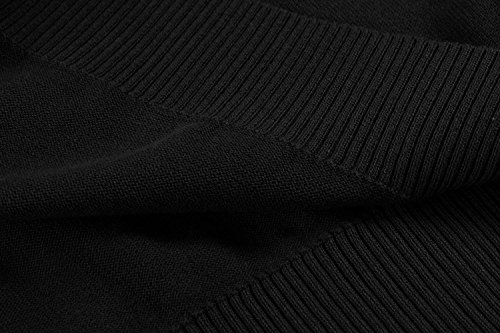 COOFANDY Men's Casual Slim Fit Crewneck Sweater Long Sleeve Basic Knitted Pullover Sweaters (L, Black) by COOFANDY (Image #4)