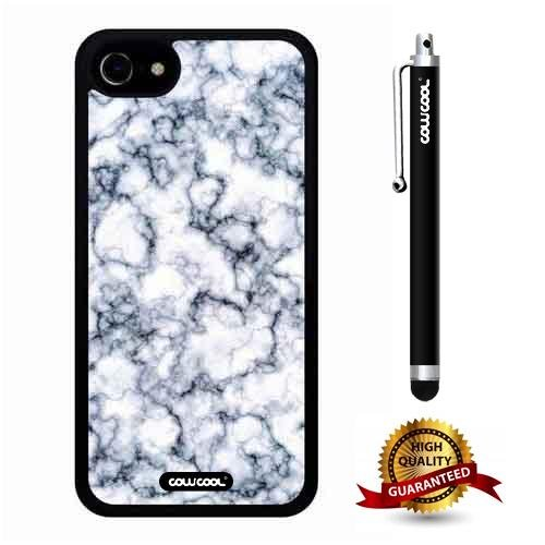 iphone 7 Case, Marble Pattern Case, Cowcool Ultra Thin Soft Silicone Case for Apple iphone 7 - Pigment Dilution Marble Texture (1 Pigment Cream High Olive)