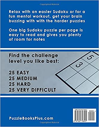 fd25ce62da0b SUDOKU Large Print Puzzle Book For Adults  100 Puzzles - Easy ...