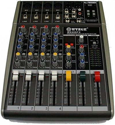 Mesa de mezclas 4 canales Ultra Slim wvngr mx408fx: Amazon.es ...