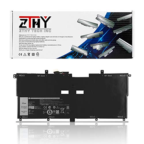 ZTHY NNF1C Laptop Battery Replacement for Dell XPS 13 9365 2in1 2017 Series XPS 13-9365-D1605TS 13-9365-D1805TS 13-9365-D2805TS 13-9365-D3605TS Notebook 0NNF1C HMPFH 7.6V 46Wh 5940mAh 4-Cell ()