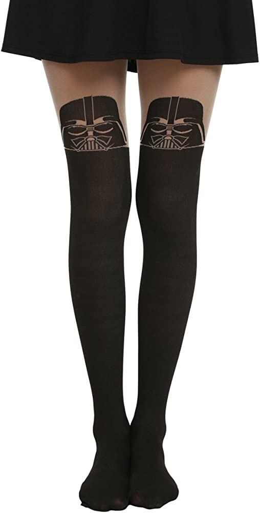 268c47fc4641c Amazon.com: Star Wars Darth Vader Faux Thigh High Tights: Clothing