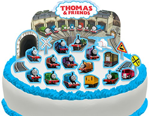 Cakeshop PRE-CUT Thomas the Tank Engine & Friends Edible Cake Scene - 22 pieces -