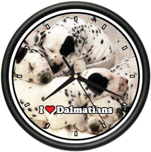 Dalmatian Wall Clock Dog pet Dogs Miniature Mini Gift