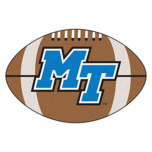 FANMATS NCAA Middle Tennessee State Univ Blue Raiders Nylon Face Football Rug