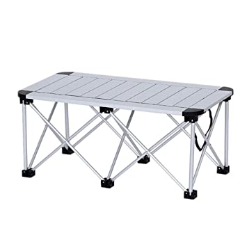 Guoyajf La Mesa Plegable Plegable De Aluminio para Acampar ...