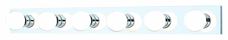 Thomas Lighting SL74184 Strips 6-Light Lamp in Chrome vanity wall sconce Philips Consumer Luminaires
