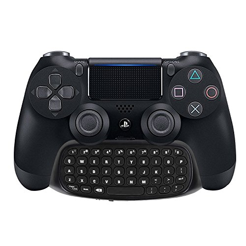 Megadream [2nd Generation] PS4 Keyboard, 2.4G Wireless Mini Gaming Instant Chatpad Keypad for Sony Playstation 4 PS4 Slim Pro DualShock 4 Controller Support 3.5mm Audio Headset and Rechargeable Black (Keypad Wireless Sony)