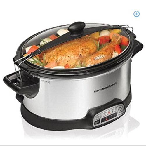 Hamilton Beach Programmable Stay or Go 6-quart Slow Cooker w