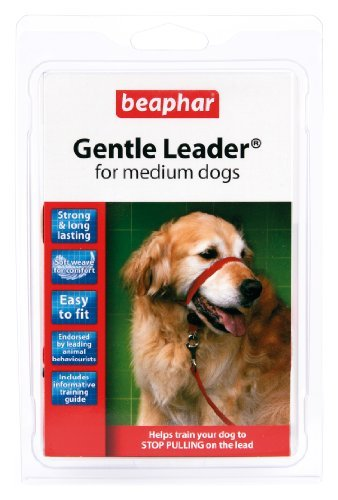Large Gentle Leader Red - BEAPHAR GENTLE LEADER FOR MEDIUM DOGS, M SIZE, RED COLOUR LEAD