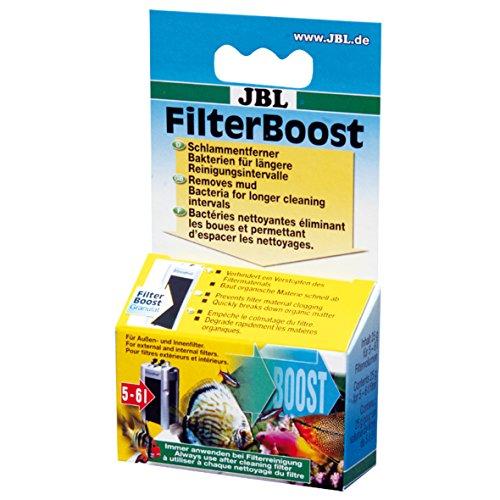JBL 2518500 Bakterien zur Optimierung der Filterlaufleistung für Süß- und Meerwasser Aquarien, Granulat 25 ml, FilterBoost