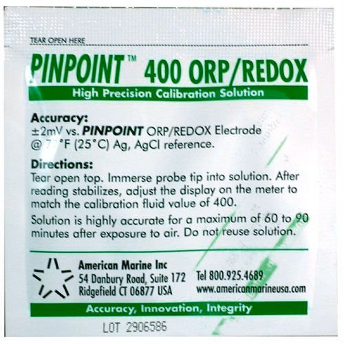 American Marine Pinpoint ORP / REDOX Calibration Fluid 400mV Orp Replacement Probe