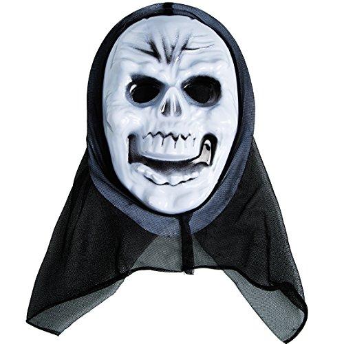 Skull Mask Plastic Scary Halloween Masks Hallowmas Accessories 1PC (Halloween Costume 2017 Couples)