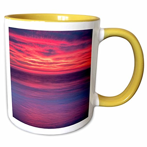 3dRose Danita Delimont - Sunrises - USA, New Jersey, Cape May. Sunrise on ocean shore - US31 BJA0013 - Jaynes Gallery - 11oz Two-Tone Yellow Mug - New Jersey Outlets Shore