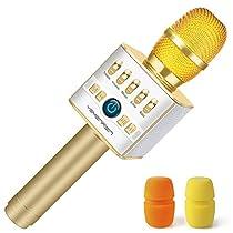 Bluetooth Microphone Karaoke, Yemenren 2800mAh Wireless Microphone Karaoke Portable Microphone Karaoke Bluetooth Mic Speakers Karaoke