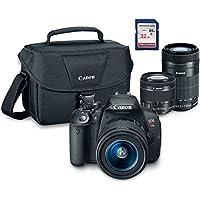 Canon EOS Rebel T5i Digital SLR Camera Kit with EF-S 18-55mm STM + EF-S 55+250mm IS STM + ES100 Case + 32GB Class 10 SD Card - International Version