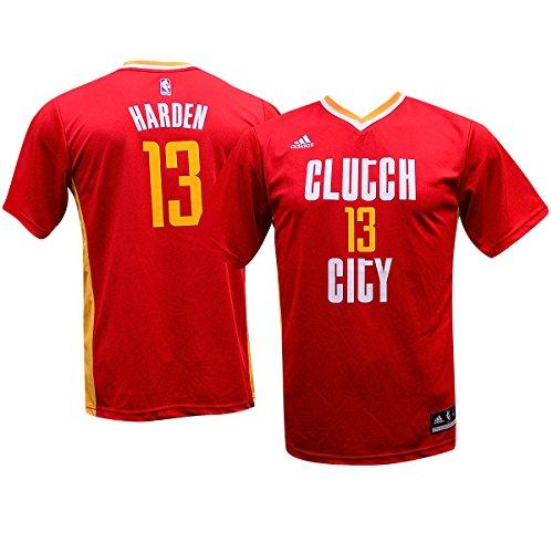 NBA Houston Rockets Harden J # 13 Boys 8-20 Replica Pride Jersey, Medium (10/12)