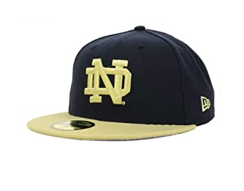 bf473d61 Image Unavailable. Image not available for. Color: Notre Dame Fighting  Irish Fitted Size 6 7/8 Hat Cap - Team Colors
