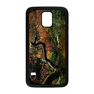 Glam Red Flowers Trees Custom Protective Hard Phone Cae For Samsung Galaxy S5