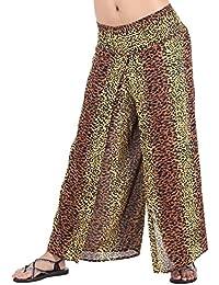 81ac0b1648db Women s Elastic Waist Bohemian Hippie Gypsy Harem Palazzo Print Pants
