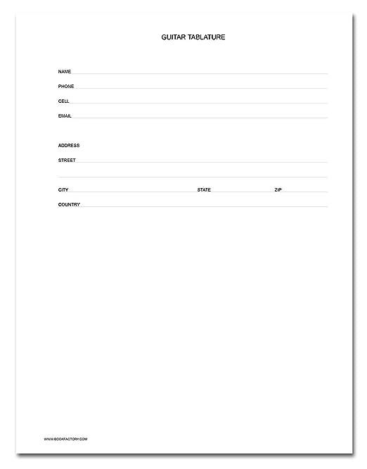 Amazon.com : BookFactory® Guitar Tablature Notebook / Guitar ...