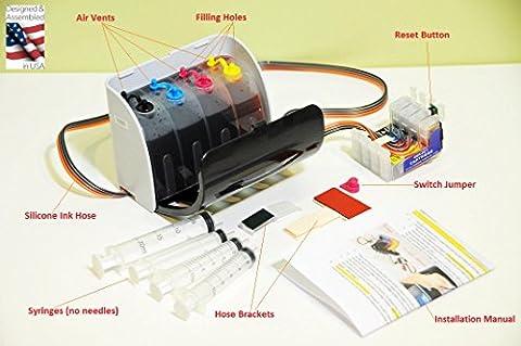 INKXPRO Brand XPRO III Series Hi Definition Dye ink system CISS for T252 Cartridge Workforce WF-3640 WF-3620 WF-7110 WF-7610 WF-7620 printer T252 cartridge Continuous Ink system (Printer Cartridges Wf 3640)