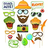 IHopes+ Dinosaur Photo Booth Props - Dinosaur Photobooth Props - Dinosaur Birthday Party - Printable Dinosaur Party - Jurassic Park Props