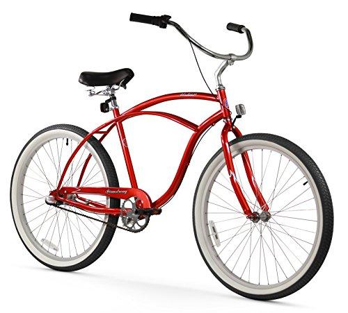 (Firmstrong Urban Man Three Speed Beach Cruiser Bicycle, 26-Inch, Red)