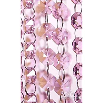this item 6ft pink crystal chandelier glass bead lamp chain