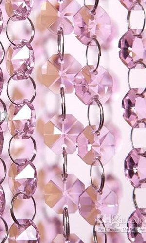 6ft Pink Crystal Chandelier Glass Bead Lamp Chain by vanki