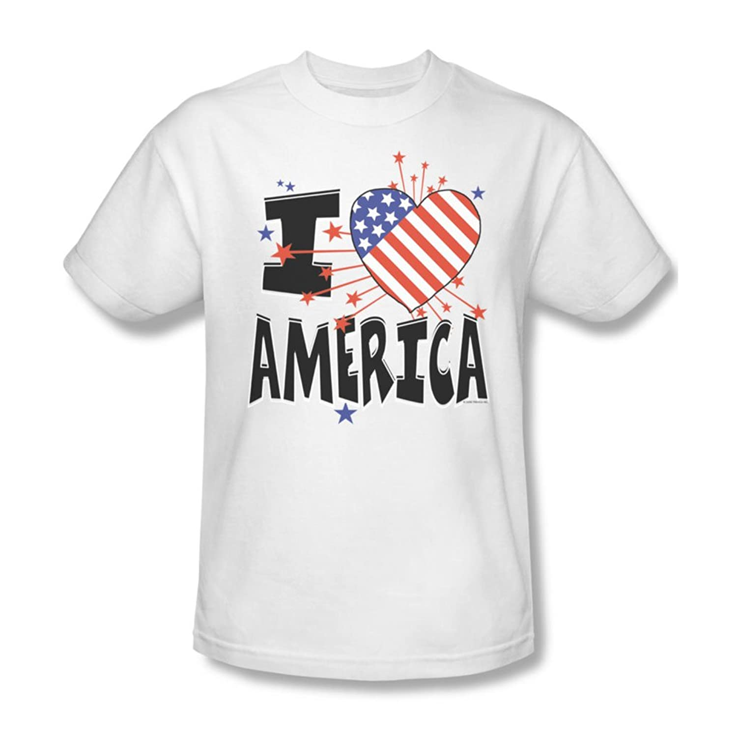 I Heart America - Mens T-Shirt In White