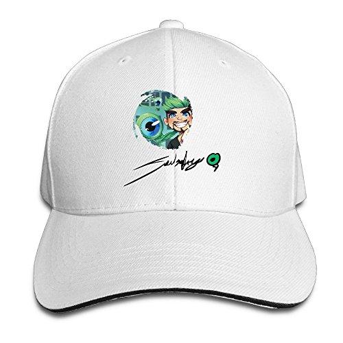 Jacksepticeye Signature Cartoon Eye Men&women Sandwich Hat White