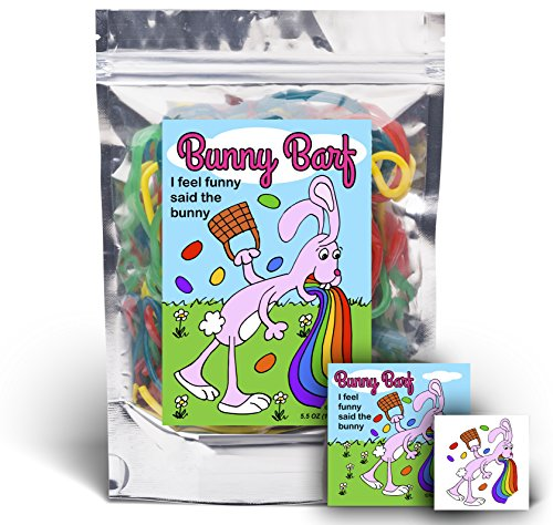Bunny Barf - Rainbow Lace Licorice - Funny Easter Basket Gag Birthday Girl, Boy and Teens Gift