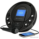 """Electrohome Karaoke Machine Portable Speaker System CD+G/MP3+G Player with 3.5"""" Video Screen, 2 Microphone Connections, Singing Music, & AUX Input for Smartphones, Tablets, & MP3 Players (EAKAR535)"""