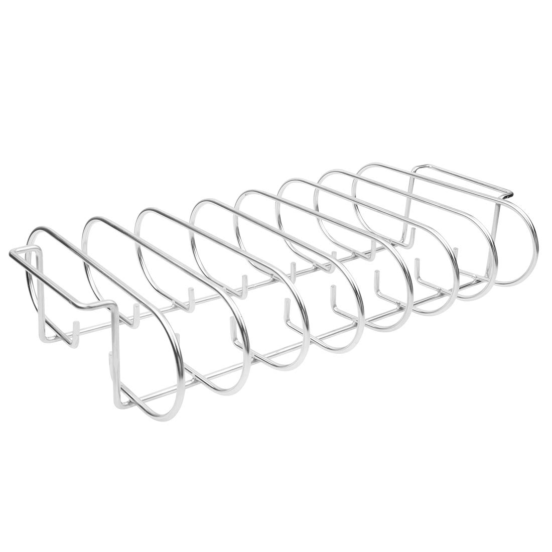 Mydracas Rib Rack for Smoking - Stainless Steel Roasting Stand - Holds 7 Ribs Racks for Grilling & Barbecuing by Mydracas