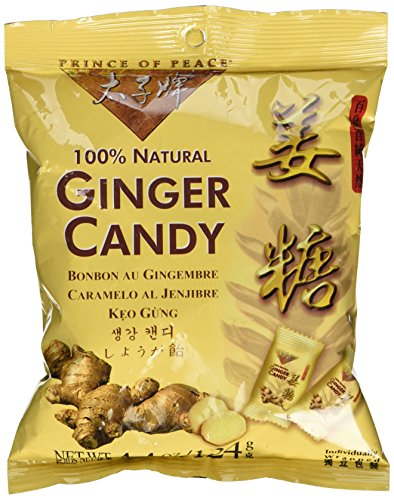 Prince of Peace Brand Ginger Candy 4.4 Oz - 125g Pack