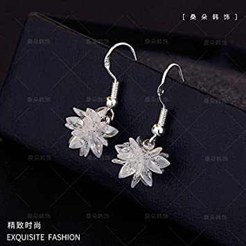 b9da9ccc4 Image Unavailable. Image not available for. Color: usongs Sterling silver  earrings elegant simple ...