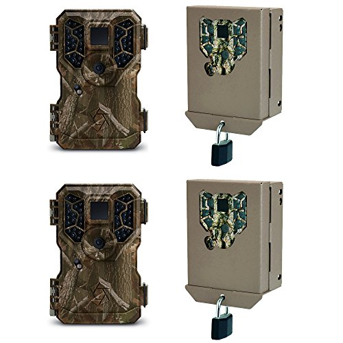 Stealth Cam GSM 8MP No Glo Mini Infrared Game Camera and Security Case (2 Pack)